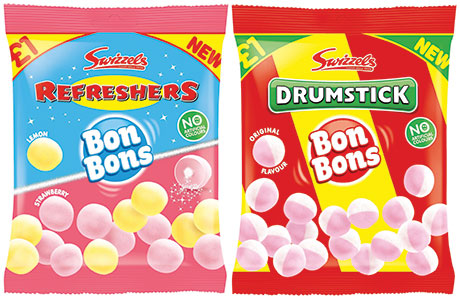 Swizzles has launched Drumstick and Refresher bon bons, available in £1 price-marked packs.