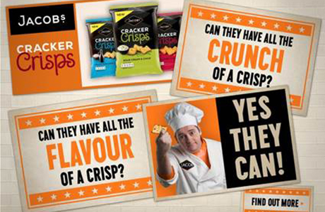 Cracker Crisps hits TV screens