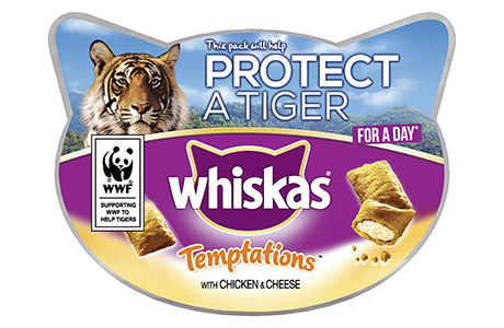 Whiskas teams with WWF to help protect tigers in the wild