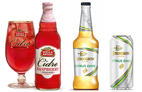Flavoured ciders heavily dominated beer, wines and spirits launches in 2014 with Stella Artois Cidre Raspberry and Strongbow Citrus Edge among the most successful of the year's new drinks.