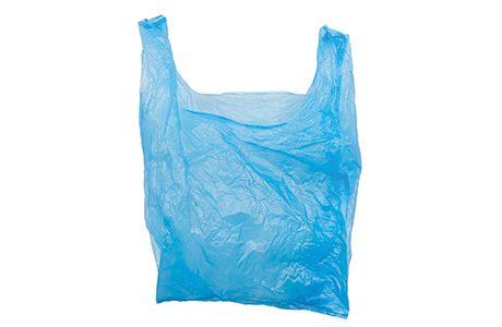 sh single blue palstic carrier bag