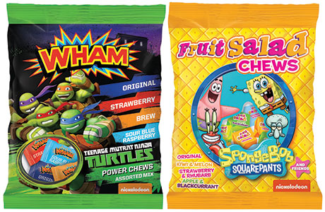 Tangerine Confectionery has a deal with  children's TV station Nickleodeon to license Teenage Mutant Ninja Turtles and SpongeBob SquarePants.