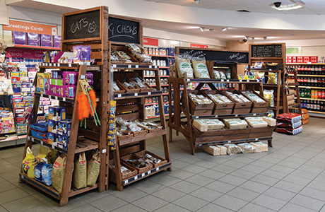 A pet food area, selling a broad range of food and other pet-related products, is one of the latest developments at Auld Brig and has so far proven to be very popular with customers.