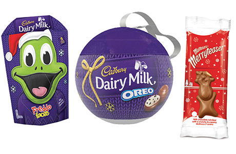 The major chocolate brands are again releasing limited editions for the festive season, including novelty single-serve packs.