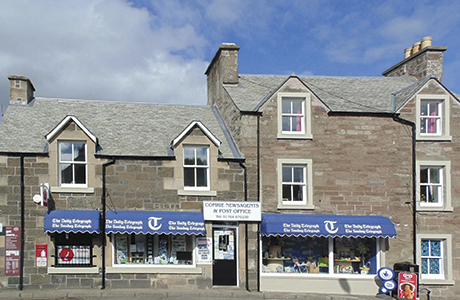 Shop, post office and rooms in Perthshire