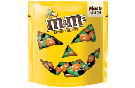 seasonal chocolate boost in the bag scottish grocer convenience retailer - Mms Halloween