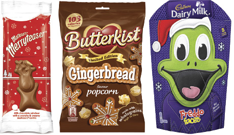Festive limited editions of popular confectionery brands are being supported by advertising and promotion.