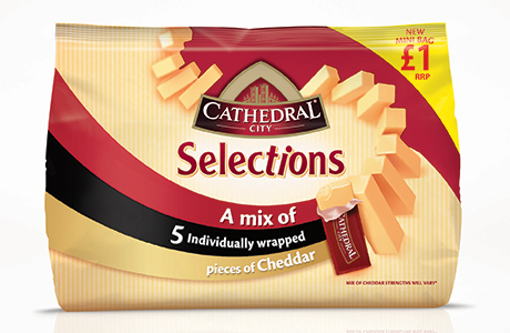 Dairy Crest's Cathedral City Selections Mini Bag £1 PMP.