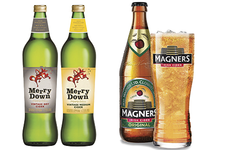 Merrydown says sales of its 750ml can increase by almost a third in c-stores in weeks close to Christmas. Magners says its pint bottle is best-selling in its market segment.