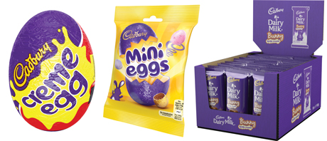 Creme Egg, the biggest confectionery brand of Easter will be in wholesalers well ahead of the 1 January Easter season kick-off.  Mini eggs are in new-look packaging this year. And Cadbury Dairy Milk Bunny Vanilla Mouse makes its debut for 2016.