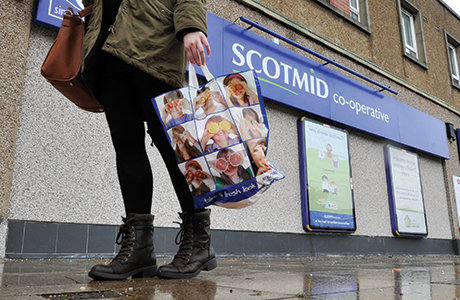 Inside and out at Scotmid's Moredun store. The shop had a comprehensive energy-saving retrofit and Scotmid has used the knowledge gained to invest in energy-saving changes at other stores. The savings helped maintain profitability in a period when revenue fell.
