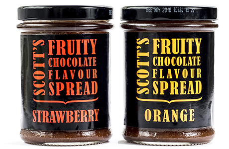 R&W Scott's Fruity Chocolate Flavour Spread, said to have 66% less saturated fat  than other chocolate spreads.