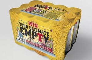 The Tennent's Lager Win Your Ultimate Empty contest runs until later this month as a taster for the festive party season.
