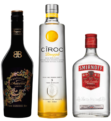 Diageo sees its Baileys range as must-stock Christmas drinks. Sales of the firm's premium vodka Cîroc are said to be up 205% in the last year. And the firm stresses the importance of fractional sizes – particularly of vodka – to c-stores.