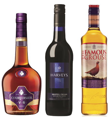 Consumers go for brands they know at Christmas so it's important to stock category leaders like its own Courvoisier, Harveys and The Famous Grouse, says Maxxium UK.