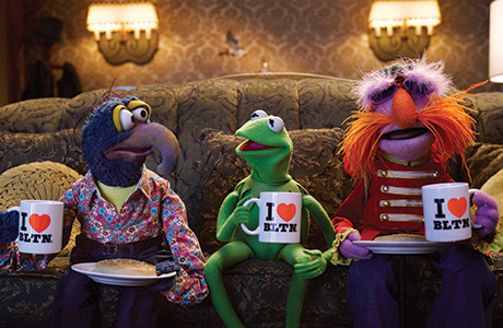 Muppets Kermit, Gonzo and Floyd