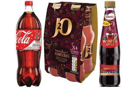 Soft drinks pile up shelf visits