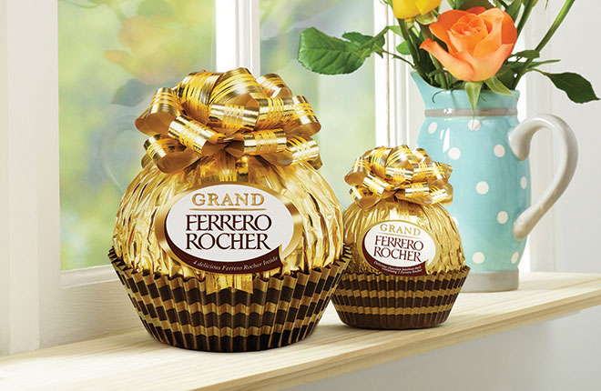 Ferrero has added a larger Grand Rocher to its range for spring 2016. The new 240g (RRP £5.24) line joins the 125g (RRP £5.24) line and other seasonal products in the Ferrero portfolio.