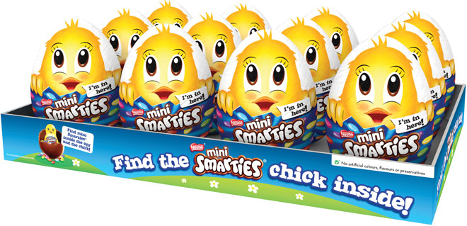 smarties-chick-in-egg-tray
