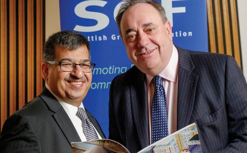 Alex Salmond with Abdul Majid