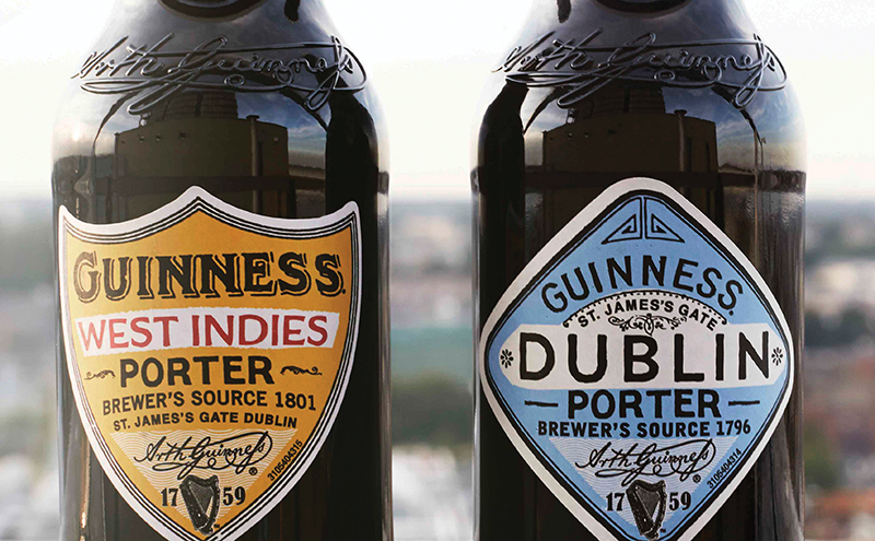 """GUINNESS announces the launch of two new beers – GUINNESS Dublin Porter and GUINNESS West Indies Porter. The two porters are the first releases from 'The Brewers Project' initiative that gives brewers the license to explore new recipes, reinterpret old ones and collaborate freely to bring exciting beers to life."""" The beers are now available in selected pubs and retailers. For more information visit www.pursuitofmore.com GUINNESS DUBLIN PORTER AND WEST INDIES PORTER 2"""