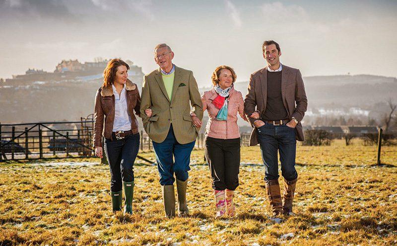 The Graham family at Airthrey Kerse Farm in Bridge of Allan_small