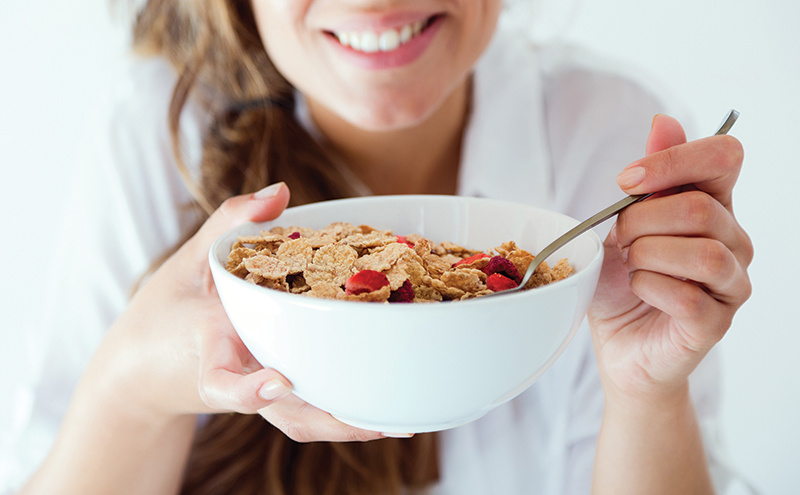 sh woman with breakfast cereal Jan 16