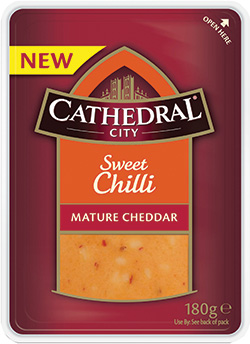 Cathedral City has added three new flavoured cheddar products.