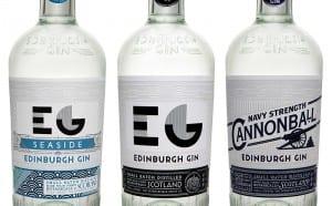 Edinburgh Gin Core Range - Seaside Gin, Original Edinburgh Gin, Cannonball Gin