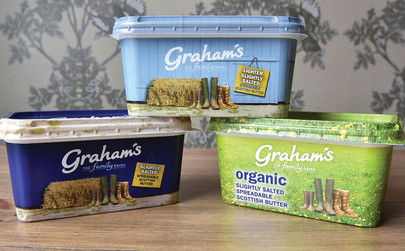 Graham's spreadable butter. The firm says spreadable butter is a key development in the butter market and that its own range continues to see sales growth.
