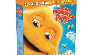 Honey Monster Puffs 25 per cent less sugar