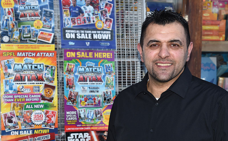Gulzar 'Iky' Ahmed, owner of Fleming Gifts, Whitecrook, Clydebank.