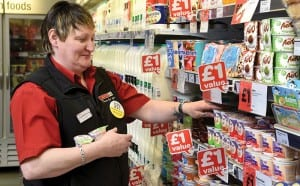 Staff work to strict systems to ensure that shelves are always fully stocked and the store looks fresh and clean.
