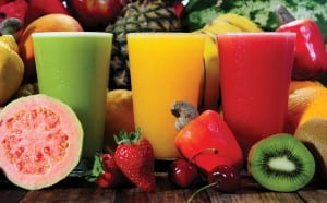 sh assorted fruit and fruit juices