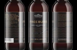 """An example of local craft beer collaboration – Inverness-shire based Tomatin Distillery partnered with Loch Ness Brewery last month to create a limited-edition barrel aged Scotch ale """"Freeburn"""".  The 7% ABV beer, sold in local shops, used seven different types of malted barley and seven types of hops.  The beer was then matured in Tomatin casks to take on the influence of the wood and whisky. The name Freeburn comes from the water source for the Tomatin Distillery –  Alt na Frith which means """"free burn""""."""