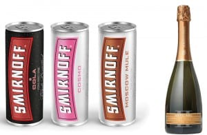 Pre-mix drinks – said by Diageo to have seen sales increases of 15% in impulse outlets.