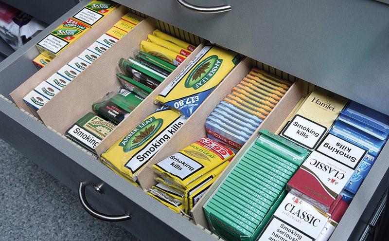 Adam Purves Premier Galashiels tobacco drawer branded RYO May 16
