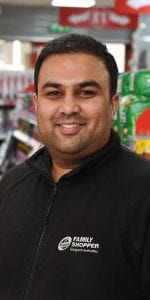 Adeil Hussain, in Family Shopper, Airbles Street, Motherwell.