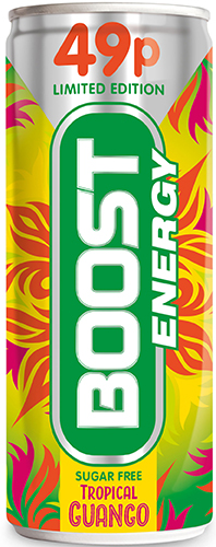 The Boost limited-edition Tropical Guango can will be available through the summer.