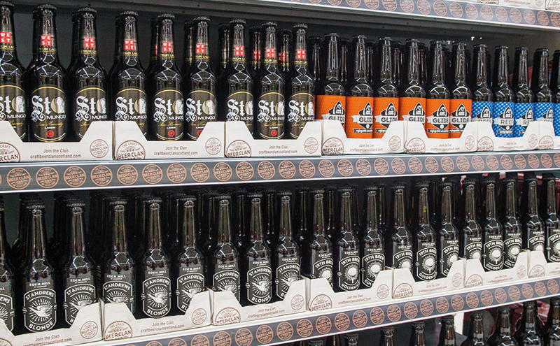 Unified merchandising for a host of Scottish craft beer clans under the Craft Beer Clan model.