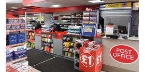 The till area at the Motherwell Family Shopper shows the JTI tobacco gantry and the adjacent specially developed and suitably covered area that holds the store's extensive range of tobacco accessories. Items not affected by the display ban such as lighters are stored and displayed immediately below that section.