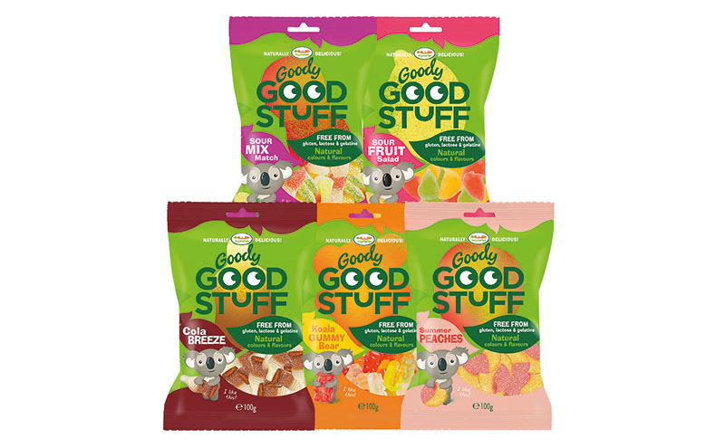 Goody Good Stuff gluten-free confectionery is offered in a pack format described as ideal for the 'food on the go' channel – 400 mini portions sold as bulk.