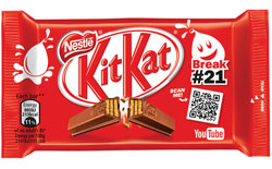 KitKat – teaming up with YouTube to provide entertaining breaks.