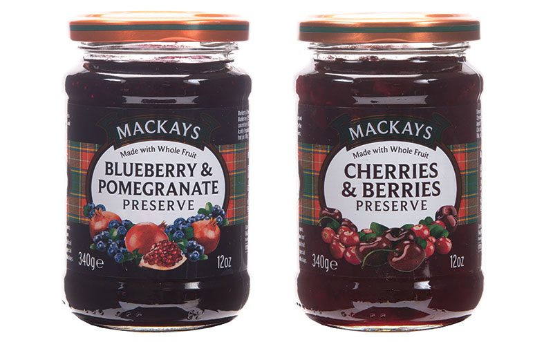 Product development is constant at Mackays. Some of its most recent new flavours include Blueberry & Pomegranate and Cherries & Berries.
