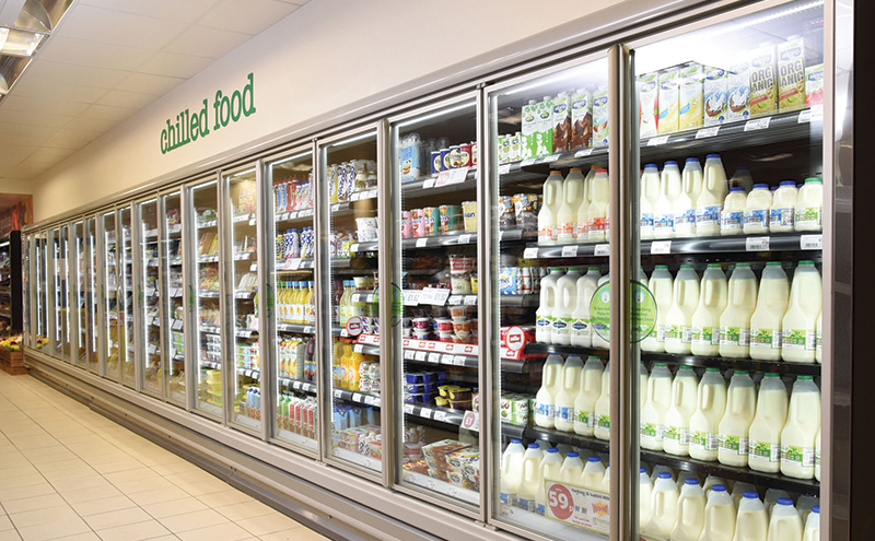 With energy saving a chief concern for retailers, Vertex says that most, when refitting, are opting for cabinets with glass doors. The Arneg double-glazed cabinets Vertex installs also feature LED lighting within the doors, so products on every shelf are brightly displayed.