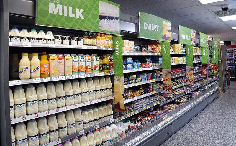 After a February performance that suggested pressure on foods sales might have lessened , March sales showed a sharper decline of 2% compared to the equivalent period last year.