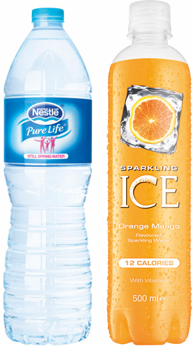 Nestlé Pure Life is now available in 1.5-litre size as a single. Sparkling Ice flavoured water, now in the UK.