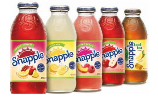 Snapple adds tea but no sugar