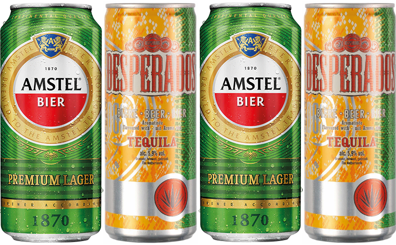 Amstel cans and bottles have been given a new look as it attempts to increase sales in c-stores and Desperados is also available in new packs.