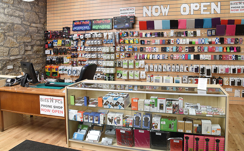 Inside, as well as news and mags, confectionery and soft drinks, the store offers gifts, mobile phone repairs, souvenirs and more. The interior is laid out to make good use of the space.